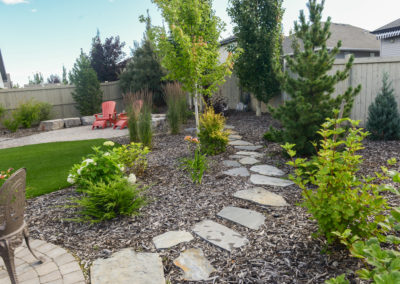 Outdoor Landscaping Stone Path and Patio