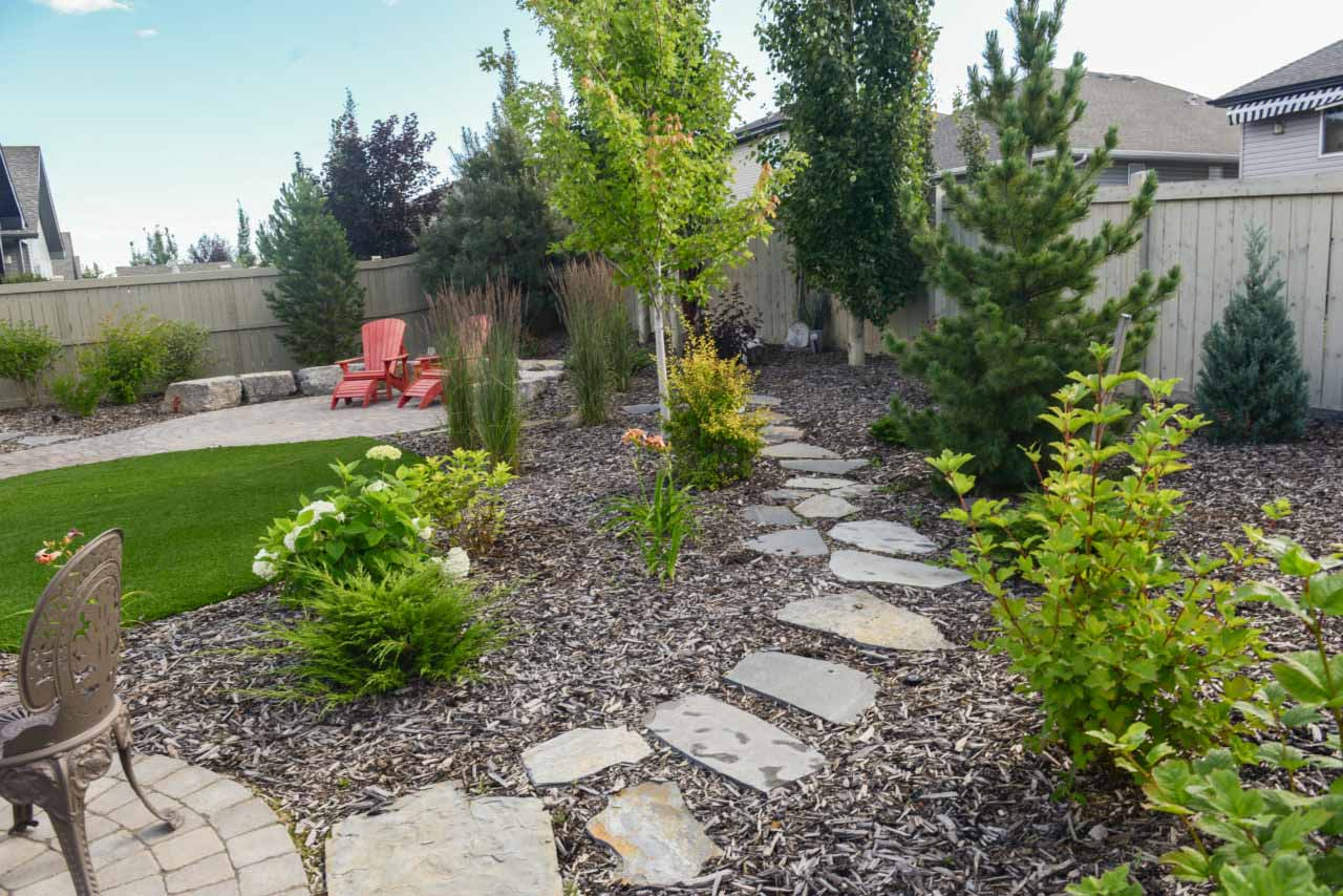 Outdoor Landscaping Stone Path and Patio Edmonton and Sherwood Park