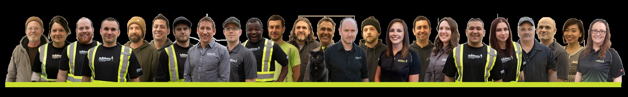 Group photo of Salisbury Landscaping staff