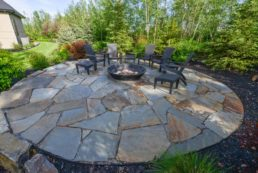 Large Stone Patio Custom Landscaping Salisbury Landscaping