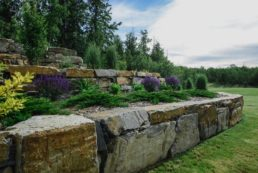 Large Rock Retaining Wall Salisbury Landscaping