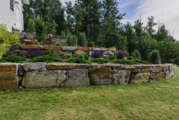 Retaining Wall with Large Boulders - Landscape Design Edmonton