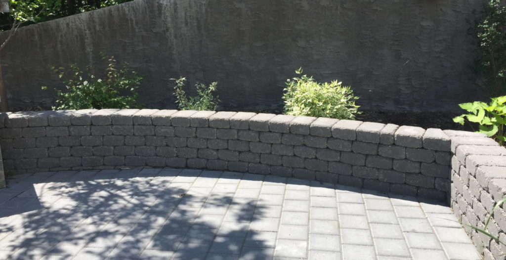 Retaining Wall - Salisbury Landscaping Design Project