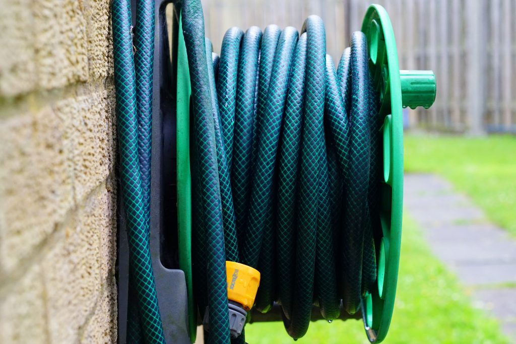 drain your irrigation systems and hoses