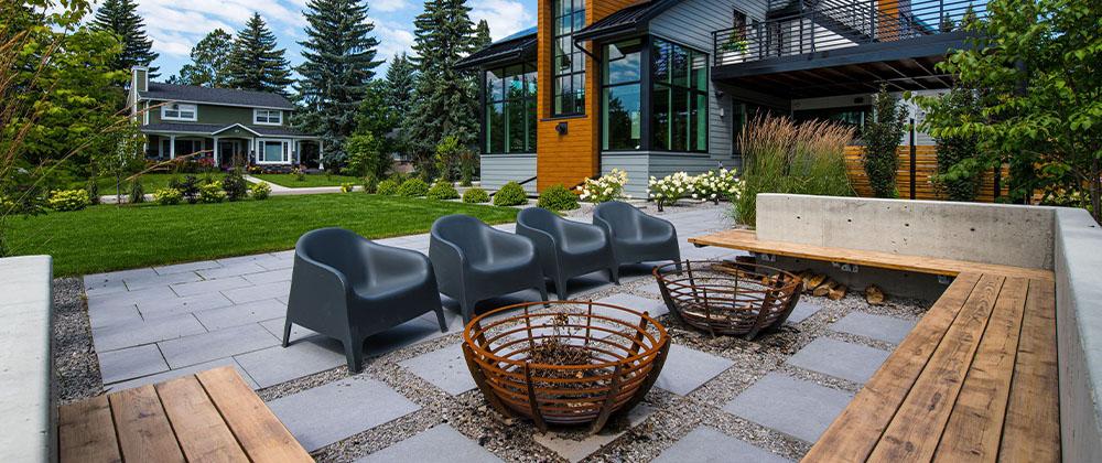 seating area design for landscape