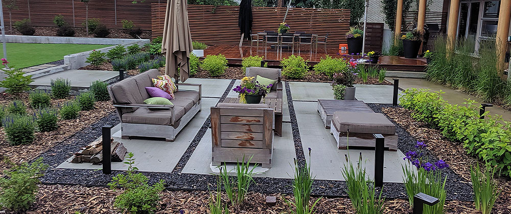 Salisbury Landscaping seating area outdoors
