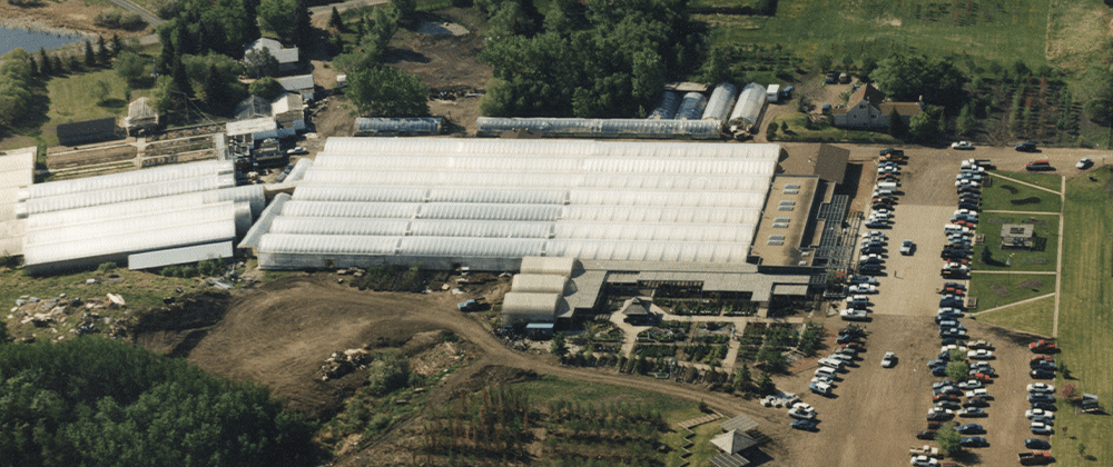 bird's eye view of Salisbury Greenhouse and Landscaping
