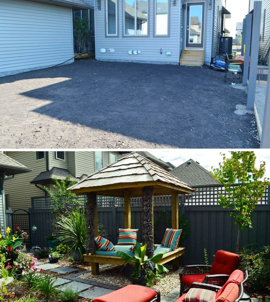 before and after Salisbury Landscaping