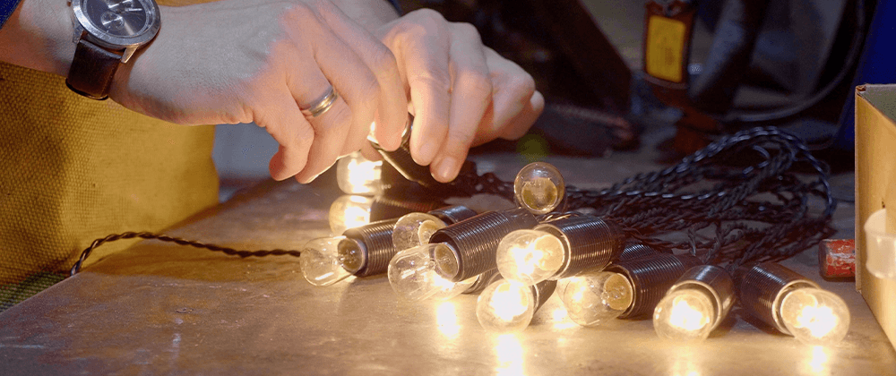 Salisbury Landscaping testing Christmas lights